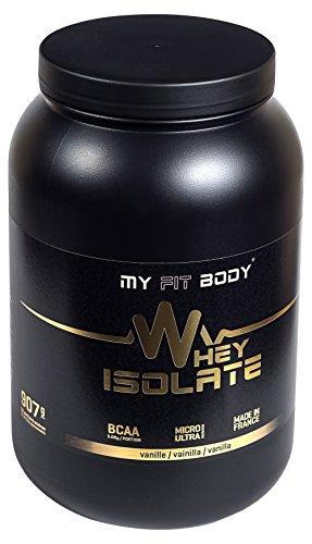 My Fit Body - Whey Isolate Elite - Proteina di Siero di Latte - Ideale per Aumentare la Massa Muscolare- Integratore Sportivo - Proteina in Polvere - Proteina Isolata - Gusto Vaniglia - 907 gr.