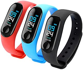 Sport watch Bracelet Smart Wristwatch Swimming Waterproof Bluetooth Low Price Sport Fitness Smart Watch for men and women Heart Rate Monitor Digital Tracker Activities, Exercise, ECG test, (Blue co