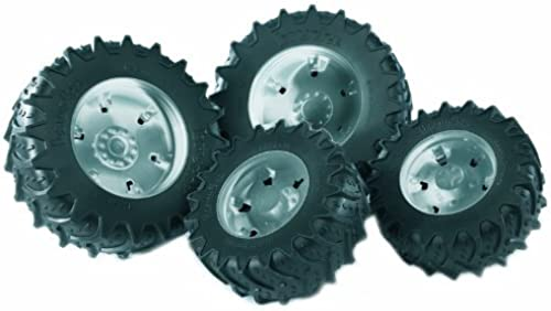 Bruder Twin Tires with Silber Rims for 03046 Tractor by Bruder