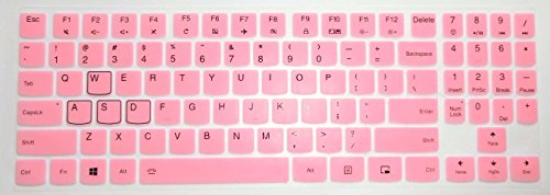 BingoBuy US Layout Keyboard Protector Skin Cover for 15.6'' Lenovo Legion Y720 Y540 Y545 Y530 Y520 R720 Y7000(15''), Y730 Y740 (17'') with BingoBuy Card Case (Light Pink)