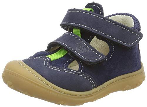 RICOSTA Unisex-Kinder EBI T-Spangen Sandalen, Blau (Nautic 174), 21 EU