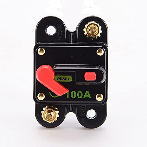 Kaimeilai 100 A, fusible para interruptor de potencia, fusible de reinicio de audio estéreo para bicicleta, inversor de fusible, fusible de corriente para coche o barco