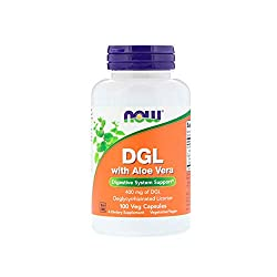 top rated NOW Supplement, Aloe Vera DGL (Licorice Deglycyl Reginate), 100 Veggie Caps 2021