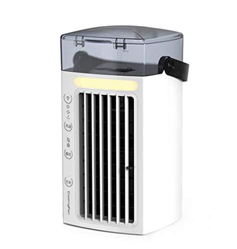 Condizionatore d'aria portatile, mini purificatore d'aria Compact, Raffreddatore d'aria silenzioso senza foglie per umidificazione a spruzzo con ventola da tavolo USB per desktop