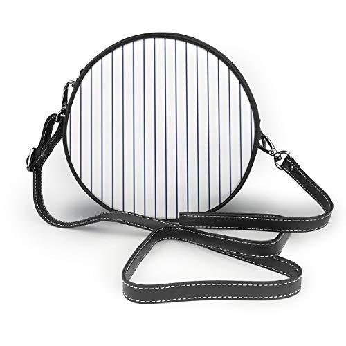 Lilyo-ltd Damen/Mädchen Baseballtasche, klassisch, gestreift, Weiß