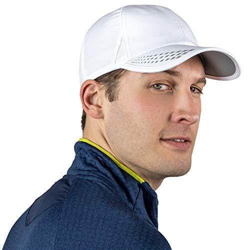 Chapéu de corrida masculino com proteção UV | Chapéus esportivos de secagem rápida para homens | Boné ao ar livre | Bonés FPS 50 | Chapéus de verão para homens, Branco/reflexivo, tamanho �nico