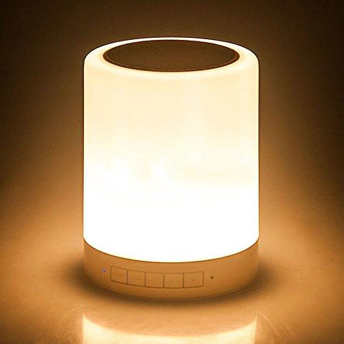 Doxungo lámpara de noche Bluetooth, luz de noche, Sensor táctil, lámpara de mesa regulable, cambio de color RGB, recargable, Música, Portátil, atmósfera, lámpara, luces de humor, para niños, oficina, en casa, lectura, camping, gris