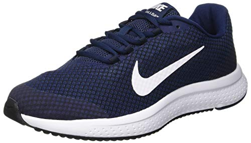 Nike Herren RUNALLDAY Sneakers, Blau (Midnight Navy/White/Dark Obsidian/Black 404), 44.5 EU