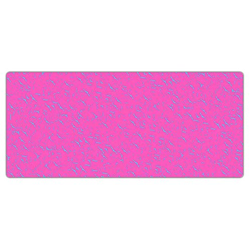 Kraken Keyboards XXL Extended Gaming Mouse Pad Thick Desk Mat (Pink / Blue)