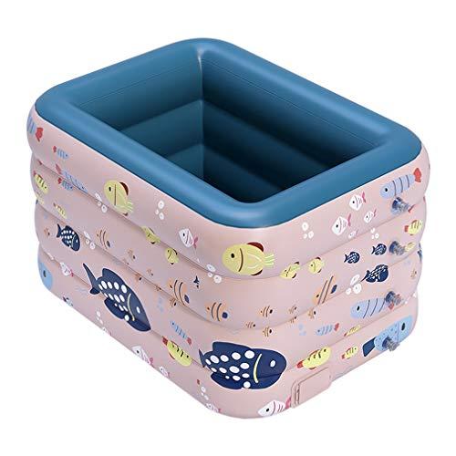TANERDD Piscina De La Casa Piscina Autoinflable Inalámbrica Estanque De Plástico PVC Al Aire Libre Piscina Casera para Bebés Y Niños,B,120cm