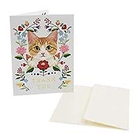 フェリシモ猫部[グリーティングカード]封筒付き ミニカード/THANK YOU