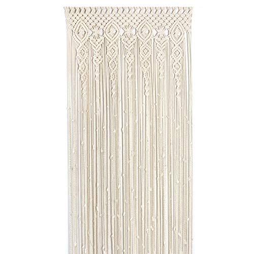 Alacritua Makramee Wandbehang Vorhang,makramee Vorhang Boho Türvorhang handgewebt, Boho-Hochzeits-Hintergrund, Küchenvorhäng für Zimmer Hochzeitsfeier Dekor