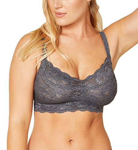 Cosabella Women's Say Never Curvy Sweetie Bralette, Anthracite, Large