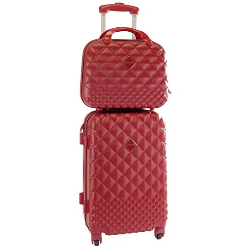 Camomilla Milano set valigia 46lt + vanity case 12lt rosso