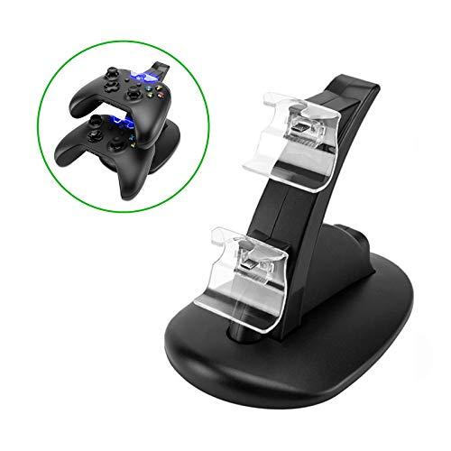 Eaxus®️ Ladestation für 2 x Xbox One Controller - ⚡ Docking Station mit LED Beleuchtung