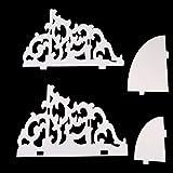 Weißes Holz Wandmontage Mode und Hacke Vintage Dekor Blumen Weißes Holz Wand Eckregal Lagerregal Eckregal (Weiß)