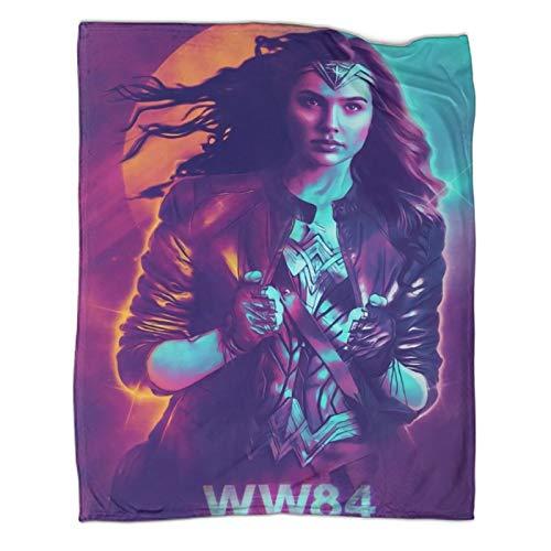 Xaviera Doherty Leichte Reisedecke mit dem Film Wonder Woman 1984, 80 x 100 cm, bequeme Plüschdecke, warme Kinderbettwäsche