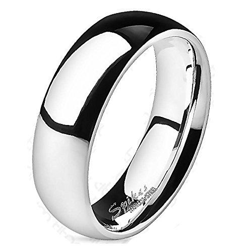 Bungsa® 60 (19.1) Ring Titan hochglanzpoliert silber für Damen und Herren Schmuckring (Ring Damen Fingerring Partnerringe Verlobungsringe Trauringe Damenring Titanring)