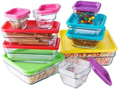 lowest Made in Mexico Guarda popular Y Conserva 24 Piece Glass Food Container Set Baking wholesale Utility Dish Square Rectangular Bowls With Lids outlet online sale