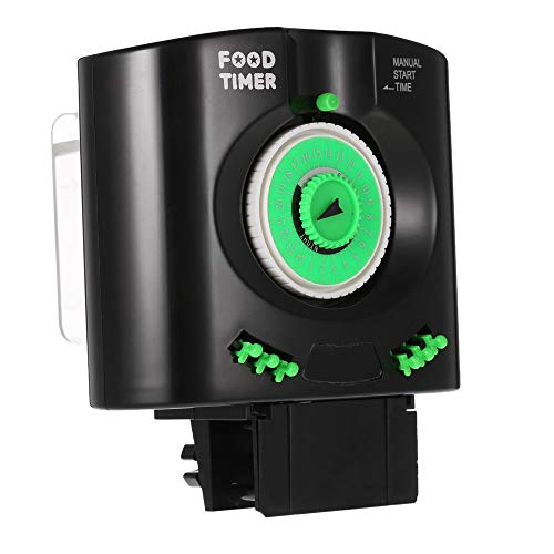 Galapara Comedero de Peces Automáticos, Manual y Automático Ajustable de Tiempo de Alimentación Alimentador Automático Acuario para Acuario,Pecera