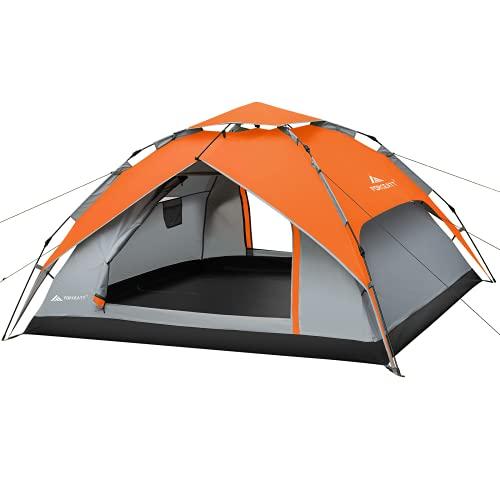 Forceatt Tenda da Campeggio,tenda da campeggio 4 posti, Tenda Portatile Automatica con Montaggio in 20 Secondi Impermeabile e Antivento con Parapioggia per Campeggio, Alpinismo, Escursionismo