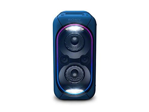 Sony GTK-XB60 Bluetooth Party Lautsprecher (Extra Bass, NFC, Lichteffekte, 14 Stunden Akku, kompatibel mit Party Chain) blau, GTKXB60L.CEL