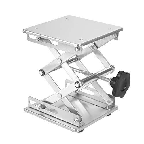 Soporte de elevación de laboratorio, estante de plataforma de elevación duradero, conveniente acero inoxidable resistente a la oxidación de 150 * 150 * 250 mm para física, química para