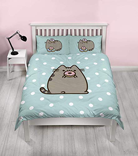 Pusheen Doughnut Design Double Duvet Cover | Reversible Two Sided Official Pusheen Bedding Duvet Cover With Matching Pillow Case