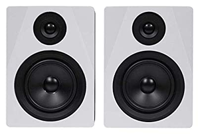 Rockville 2-Way 250W Active/Powered USB Studio Monitor Speakers Pair, 5.25 inch (APM5W) by ROCKVILLE