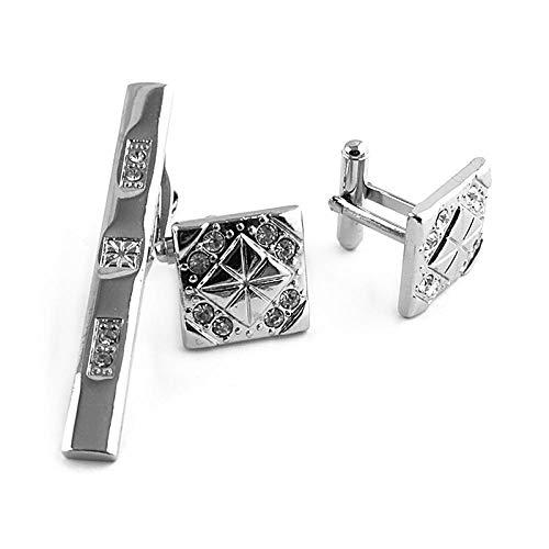 NObrand Einfacher Manschettenknopf-Krawattenklammeranzug aus Metallstern für Männer