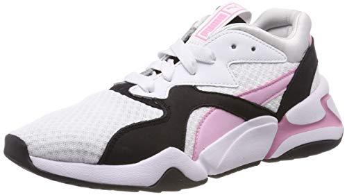 Puma Damen Nova 90's Bloc WN's Sneaker, Weiß White-Pale Pink, 38 EU