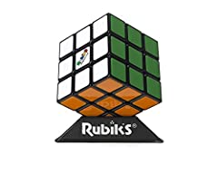 CLASSIC RUBIK'S CUBE PUZZLE GAMEPLAY: Remember trying to solve the Rubik's Cube game as a kid? With classic puzzle-solving gameplay, The Rubik's Cube game is a challenging puzzle for kids ages 8 and up INCLUDES COOL PUZZLE STAND: Put the Rubik's Cube...
