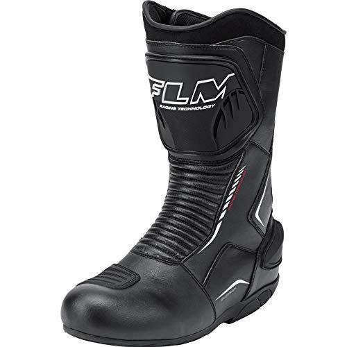 FLM Motorradschuhe, Motorradstiefel lang Sports Stiefel 2.0 schwarz 44, Unisex, Sportler, Ganzjährig, Leder
