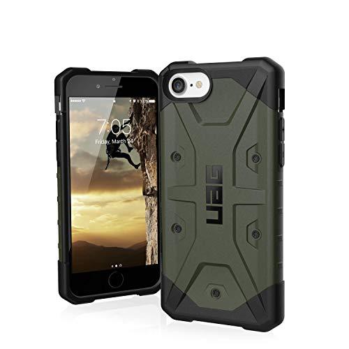 Urban Armor Gear Pathfinder Hülle Apple iPhone SE (2020) / 8 / 7 / 6S Schutzhülle (Wireless Charging kompatibles Cover, Sturzfeste Handyhülle, Ultra Slim Bumper) - dunkelgrün