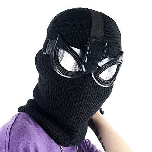 Neborn Nuevo Spider-Man Far from Home Stealth Suit Máscara Cosplay Spiderman Noir Máscara Negra con Gafas Gafas Fiesta de Halloween Accesso