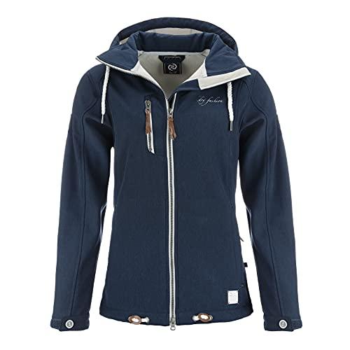 DryFashion Damen Softshell-Mantel Dagebüll, Größe:48, Farbe:navy