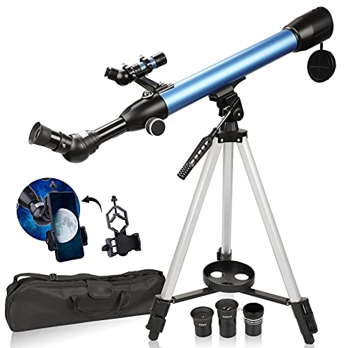 USCAMEL Telescope,600/50mm HD Telescope for Kids Beginners Adults,Portable Refractor Telescope for Astronomy,Watching The Moon, Bird Watching, Viewing The Natural Scenery