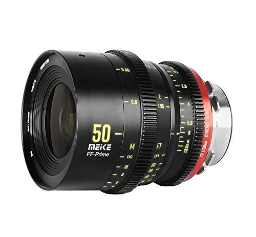 Meike Prime 50 mm T2.1 - Objetivo Cinema, Formato Completo, para Alta resolución de hasta 6K/8K, para Canon RF