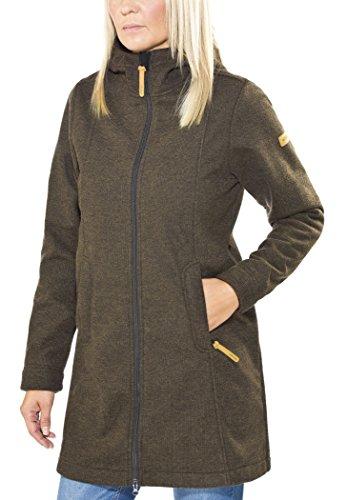 Elkline Dreiwetter Softshell Jacke Damen brownmelange Größe 34 2016 Funktionsjacke