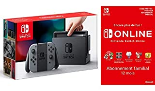 Console Nintendo Switch avec paire de Joy-Con : gris + Switch Online 12 Mois Famille [Download Code] (B07MDGQ9V8) | Amazon price tracker / tracking, Amazon price history charts, Amazon price watches, Amazon price drop alerts