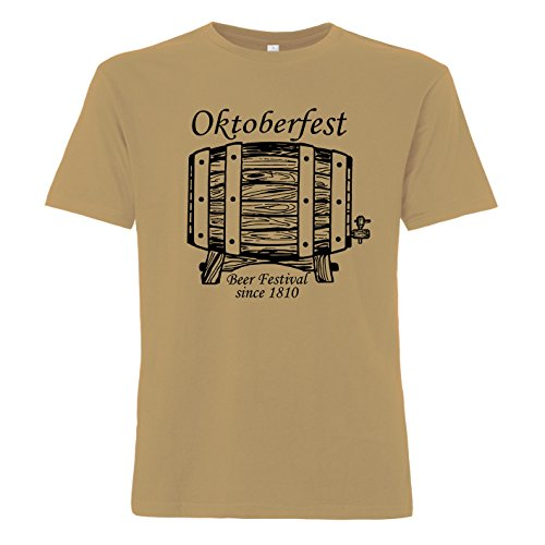 ShirtWorld - Oktoberfest Beer Festival Since 1810 - T-Shirt Sand M
