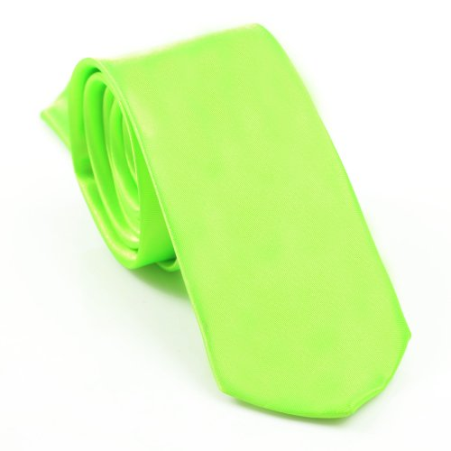 I LOVE DIY Cravate Slim Hommes 5cm - Cravates élegante mince faite à la main pour costume mariage chemises soirée (vert fruit)