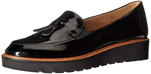 Naturalizer Women's Electra Oxford Flat, Black Patent, 8 M US
