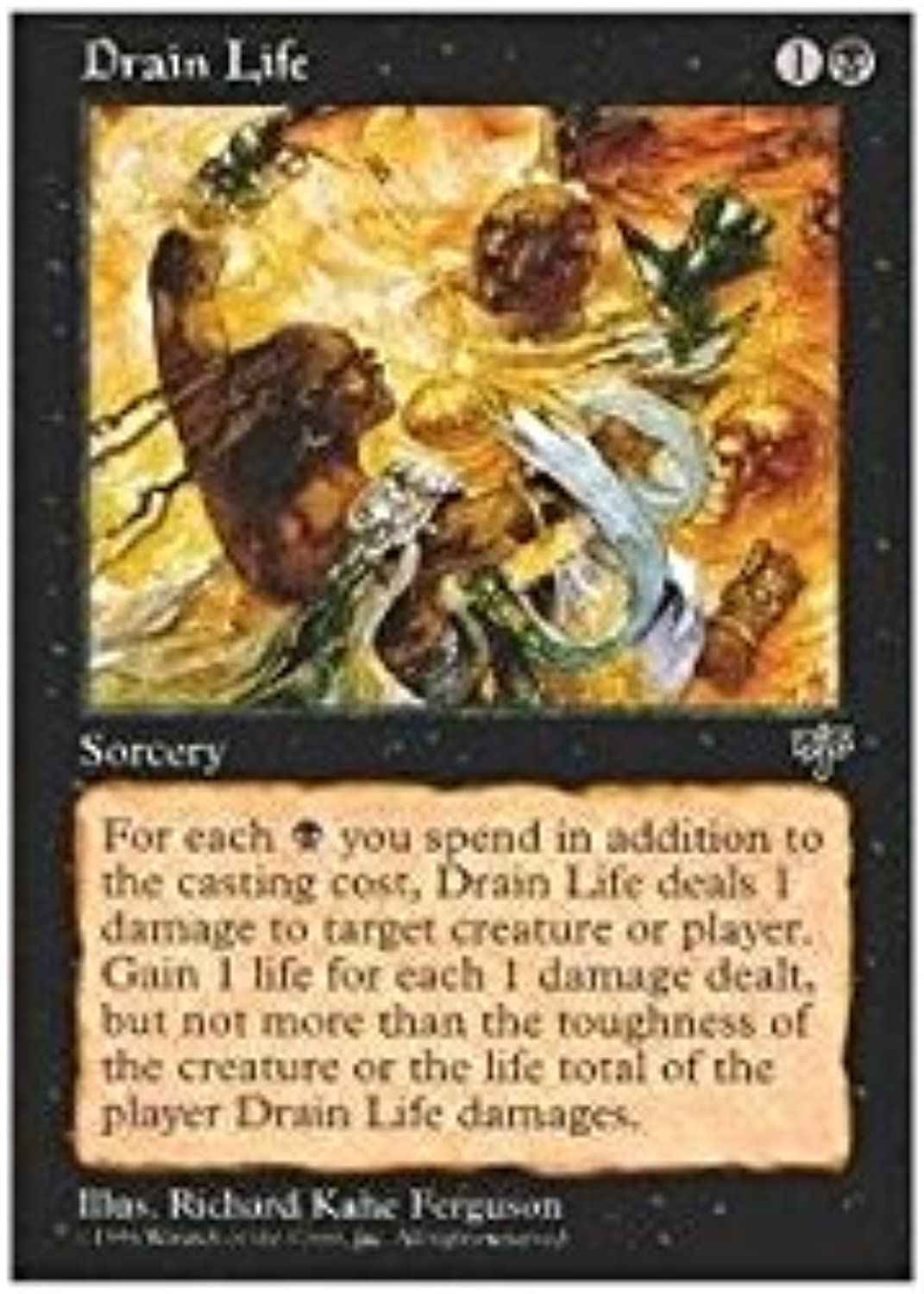Magic    the Gathering  Drain Life  Mirage c91011