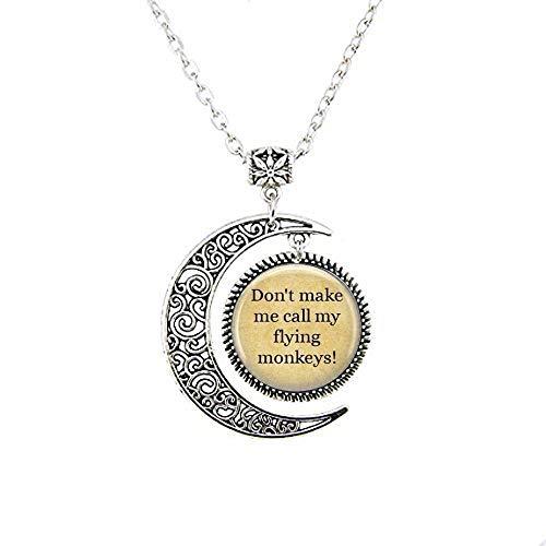 bab Wizard of Oz Halskette – Wicked Hexe Halskette – Wicked Anhänger – Buch Halskette – Literary Schmuck – Zitat Halskette – inspirierende Mond Halskette