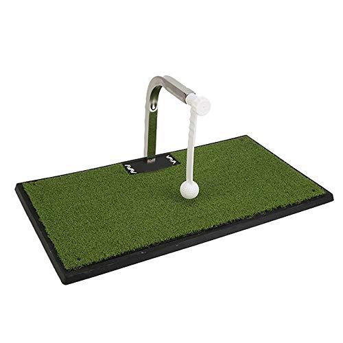 LZXMXR Golf-Pad, Golf Swing Trainer, Indoor und Outdoor bewegliche Schaukel Trainer, 360 ° Rotation Trainer, Grün