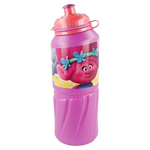 ALMACENESADAN 2202; Botella de Agua Sport Easy Grande Trolls; Capacidad 530 ml; Producto de plástico; No BPA