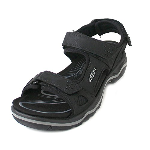 Keen Keen Herren Rialto 3 Point Sandalen Trekking- & Wanderschuhe, Schwarz (Black/neutral Gray Black/neutral Gray), 44 EU