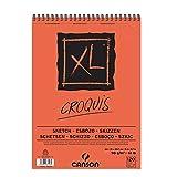 Álbum Espiral Microperforado C200787103, A4, 120 Hojas, Canson XL Croquis, Grano Fino 90 g, Blanco