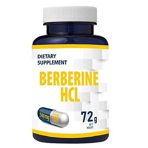 Berberine HCL 500mg 120 Vegan Capsules, Blood Sugar and Cholesterol Control